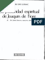 La posteridad espiritual de Joaquín de Fiore. De Saint-Simon a nuestros días, tomo II - Henri de Lubac
