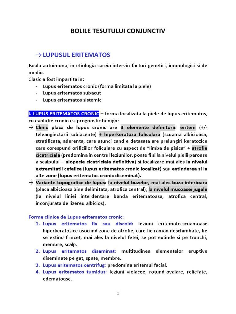 leziuni renale în bolile țesutului conjunctiv