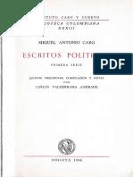 Escritos políticos. Primera serie (1871-1876) - Miguel Antonio Caro