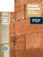 Cleaning Sandstone - risks