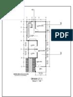 Contoh Gambar Kerja Rumah Minimalist 6x14,6m