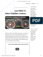 Ford Focus MK2 C-Max hidden menu - mr-fix.info