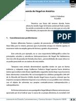 Presencia de Hegel en América Latina Carlos Paladines