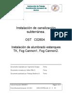 Procedimiento Instalacion de Canalización Subterranea