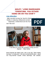 TESSA HADLEY- 'LONG MARRIAGES ARE INTERESTING. YOU EITHER HANG ON OR YOU DON'T'.docx
