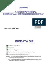 Manajemen Operasional, Perencanaan Dan Pengembangan It Rs