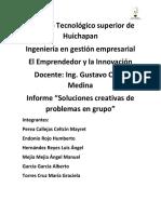 Informe Soluciones Creativas Para Problemas de Grupo