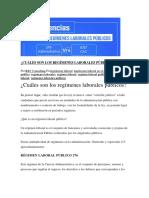 CUÁLES SON LOS REGÍMENES LABORALES PÚBLICOS.docx