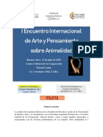 Jornada animalidad - 1ra circular