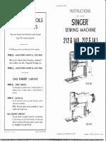 Singer 212G-140 + 141 User Manual