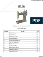 Singer 201 & 1200 Parts List