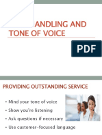 Call Handling and Tone of Voice