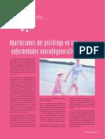 Aportes Del Psicologo en Enfermeddes Neurodegenerativas