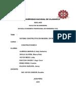 Sistema Constructivo en Madera, Adobe y Drywall
