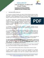Normativa Fichaje Adadet Marzo 2019