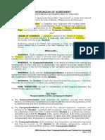 Internship Memorandum of Agreement Between Student and Company