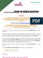 COMO VERIFICAR UNA CUENTA ALERTPAY - MANUAL EN ESPAÑOL