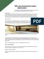 0878 7896 9087, Jasa Desain Interior Kantor Jakarta Pusat