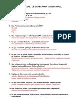 Cuestionario de Derecho Internacional