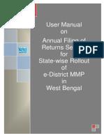 WB EDistrict User Manual Applicant Annual Filing of Returns 0.3 7Apr15