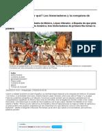 Historia_ ¿Perdón a México, Por Qué_ Los Historiadores y La Conquista de América