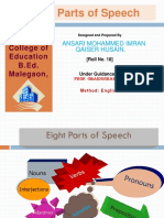 Ansari Md Imran_18_Parts of speech in English.ppt