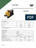 Cat Diesel DE165E0 - Silent - Specsheet (1)