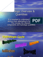 Hydrology Overview Quantities