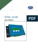Manual Rtdl 14 He