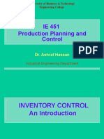 Lecture 8 Inventory Control Models I.ppt