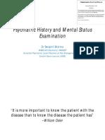 4 - Psychiatric History and Mental Status Examination