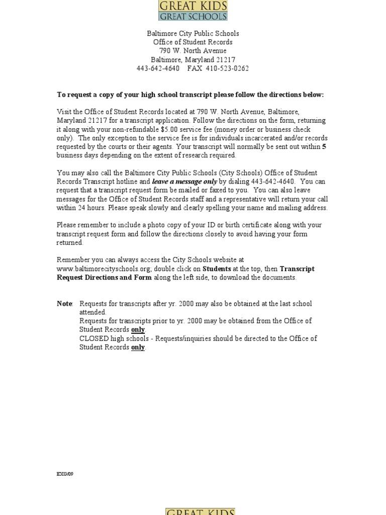 Transcript Form | Birth Certificate | Cheque