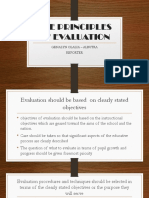 The Principles of Evaluation