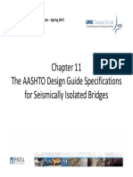 SID-Chapter 11 the AASHTO Design Guide Specifications for Seismically Isolated Bridges Spring 2015