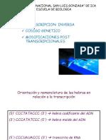 Clase 3 Transcripción Inversa Codigo Genetico 1