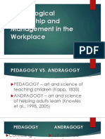 Andragogical Leadership and Management in the Workplace