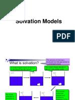 Solvation Models (1)