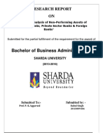 Comparative Analysis of Non-Performing Assets of Public Sector Banks, Private Sector Banks & Foreign Banks Research Marketing sharda.docx