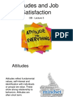 OB Lecture 3 2019 - Attitudes and Job Satisfaction