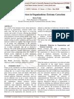 Destructive Behaviors in Organizations Extreme Careerism