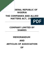 Memart of Ridge Hoise Devt Company