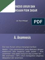 anamnesa dan pemeriksaan fisik dasar