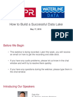 How to Build a Successful Data Lake Webinar - 160517