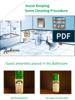 Cleaning of Bathroom