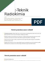 Teknik Teknik Radiokimia