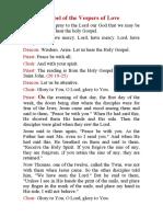 Gospel of the Vespers of Love