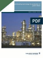 Novel Hydrotreating Technology for Production of Green Diesel - Haldor Topsoe