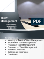 Talentmanagement report