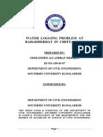 Water Logging Thesis