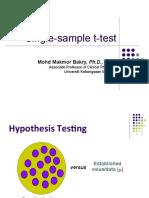 Single t Test
